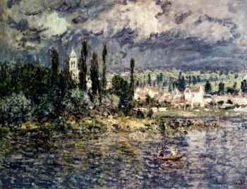 Claude Oscar Monet : Landscape With Thunderstorm